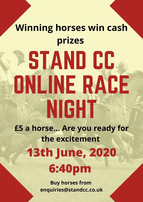 Virtual Race Night – Saturday 13th June